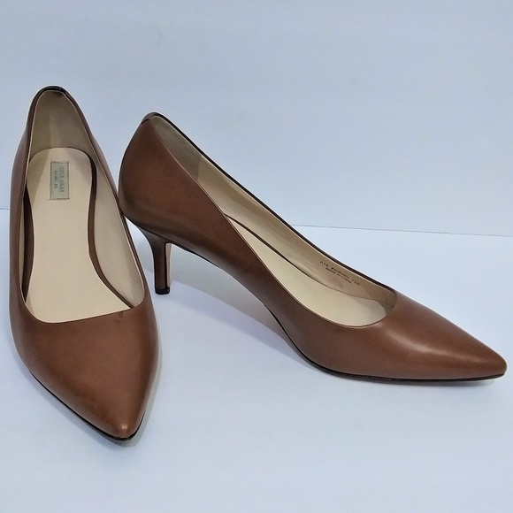 Cole Haan Brown Leather Low Heel Pump